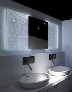 Oglinda cu lumini LED