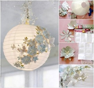 Lampion de hartie decorat