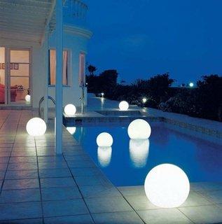 Boluri luminoase iluminat decorativ exterior