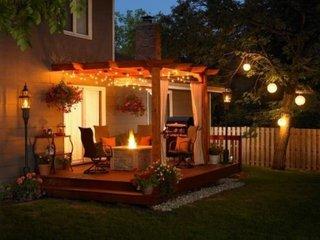 Pergola in prelungirea casei cu instalatie solara