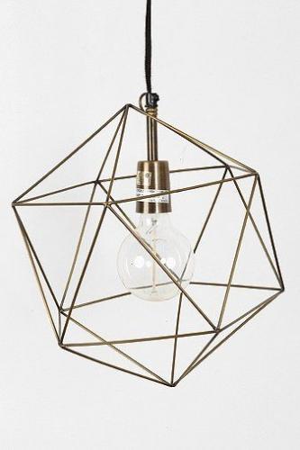 Abajur pentru lustra cu forma geometrica