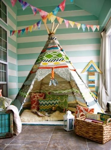 Amenajeaza-ti un cort in casa pentru distractia copiilor
