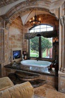 Decor elegant baie rustica