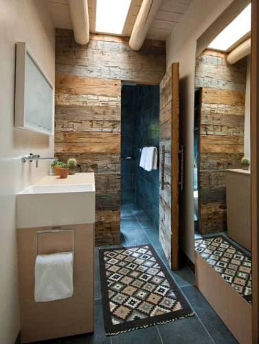 Decor rustic modern baie