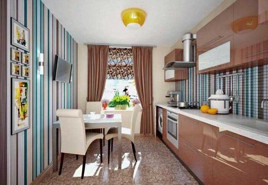 Design elegant cu dungi bucatarie