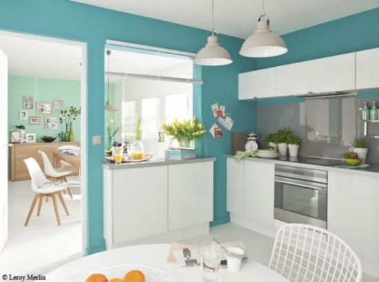 Cele mai moderne culori pentru bucatarie - Quel mur peindre en couleur dans une chambre ...