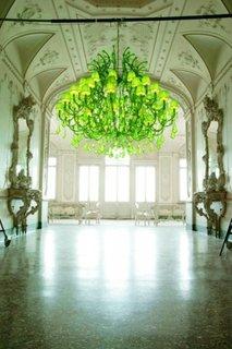 Candelabru verde neon