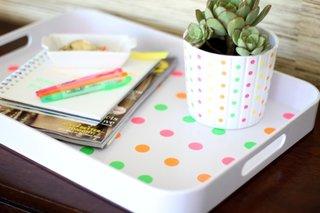Decoratiuni cu buline multicolore