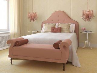 Dormitor elegant culoarea somonului