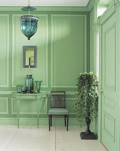Pereti zugraviti in verde luminos