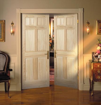 Usa interioara dubla din lemn natur