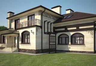 Casa placata cu travertin