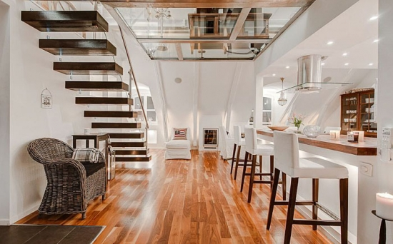 Cum amenajezi un duplex la mansarda - idei pentru un design in stil scandinav