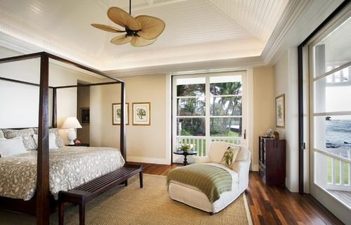 Dormitor cu parchet in doua nuante