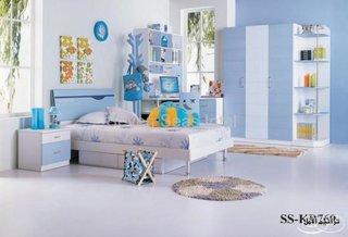Dormitor de copil decorat cu bleu