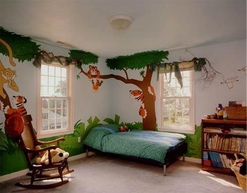 Dormitor pentru copii cu teme din natura