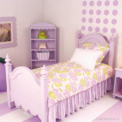 Dormitor violet pentru fetite
