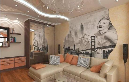 Cum poti decora intr-un living mic peretele din spatele canapelei ? idei + imagini