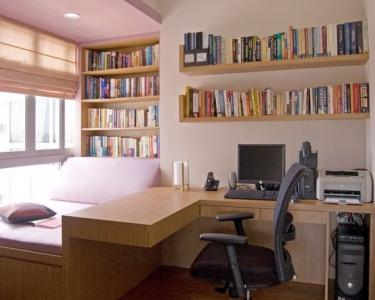 Dormitor facut pe comanda cu birou si biblioteca