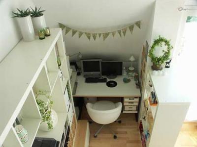 Idee de amenajare a unui birou intr-un spatiu ingust si mic