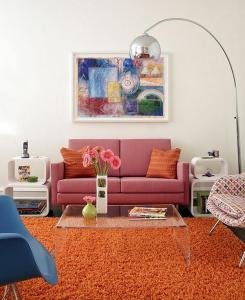 Fara abuzuri - living decorat in stil retro minimalist