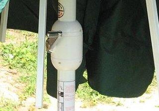Manevrarea umbrelei de gradina cu ajutorul manetei