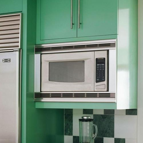 Dulap suspendat de bucatarie cu loc pentru cuptorul cu microunde