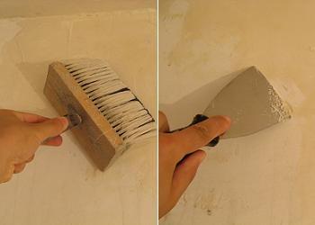 Curatarea peretelui afectat de umezeala