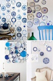 Combinatie de alb si albastru pentru decoratiuni moderne pereti