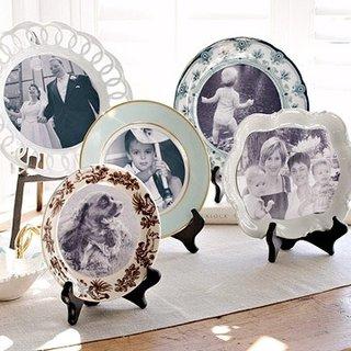 Fotografii de familie imprimate pe farfurii decorative