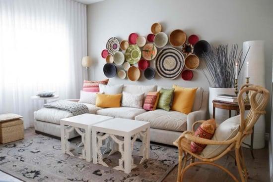 Farfurii pe pereti - idei de decor pentru interioare interesante si originale