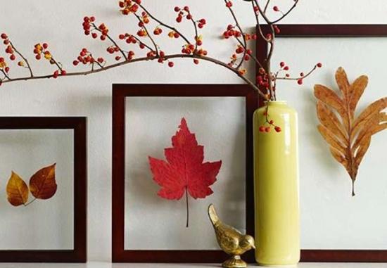 Tablouri hand made cu frunze uscate