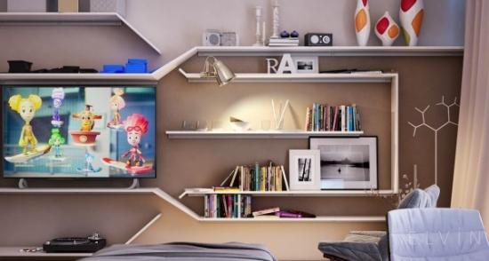 Mobilier perete pentru dormitor tineret