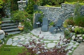Decor terasa din pietre de rau