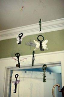 Cheite decorative cu aripi de fluturasi pentru camera copii