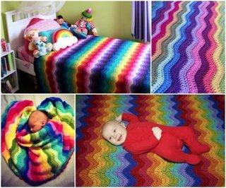 Cuvertura culorile curcubeului pentru copii
