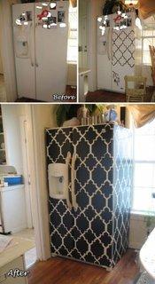 Decor frigider cu autocolant
