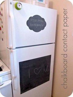 Decor frigider cu autocolant tabla neagra