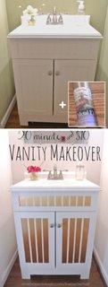 Decor mobilier baie cu autocolant