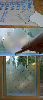 decor geam cu autocolant sablat