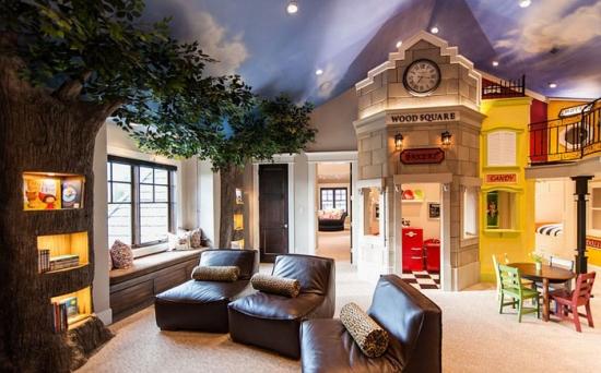 Interior ultra modern de camera de copil
