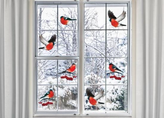 Stickere decorative din vinil pentru geamuri