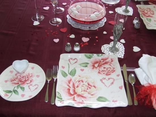 Accesorii in forma de inima pentru decorarea mesei