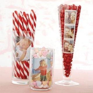 Decoratiuni cu pahare cu acadele si bomboane