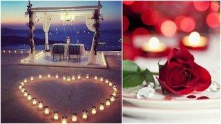 Masa aranjata romantic