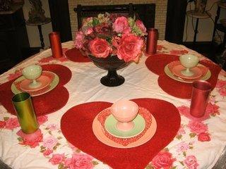 Suporturi pentru farfurii in forma de inima rosie mare