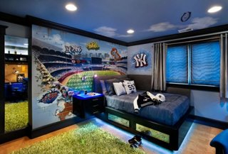 Culori indraznete pentru decorarea peretilor pentru camera unui copil
