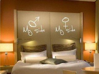 Pat matrimonial cu tablie de pat personalizata