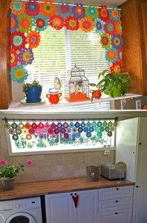 Decoratiuni crosetate pentru ferestre