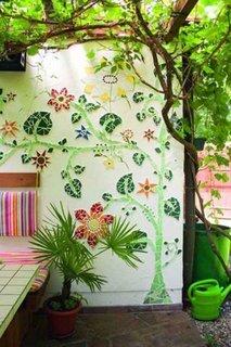 Arta cu mozaic pentru o fatada exterioara
